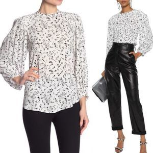 NWT Joie Lissane White Floral Blouse Size Small
